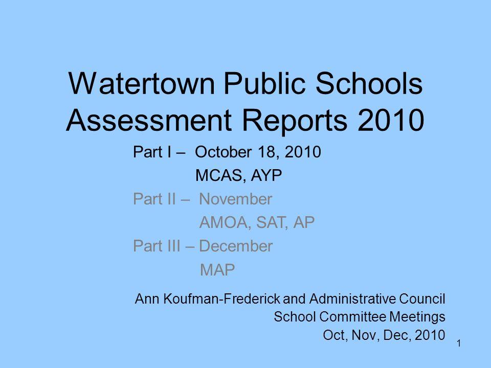 1 1 Watertown Public Schools ...