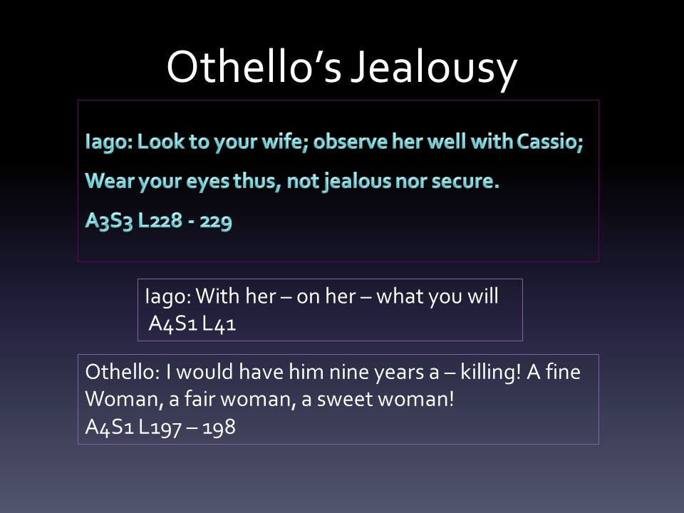 Othello Jealousy Essay