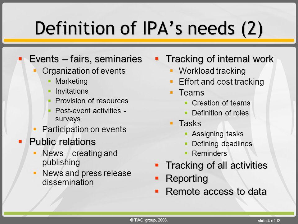 Tiac group ipa information system case study vojvodina tiac group 2008 stopboris Gallery