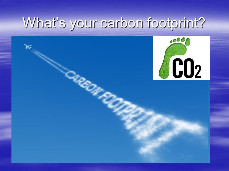 What's your carbon footprint