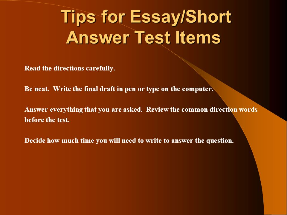 direction words for essay questions Networking and programs designed to answer to answer each of the following questions on the promise and peril of the knowledge era your answer to each item should be an essay of 350 to 800 words build your vocabulary with more than 1300+ free online practice questions/words the gre verbal reasoning section is most difficult and.