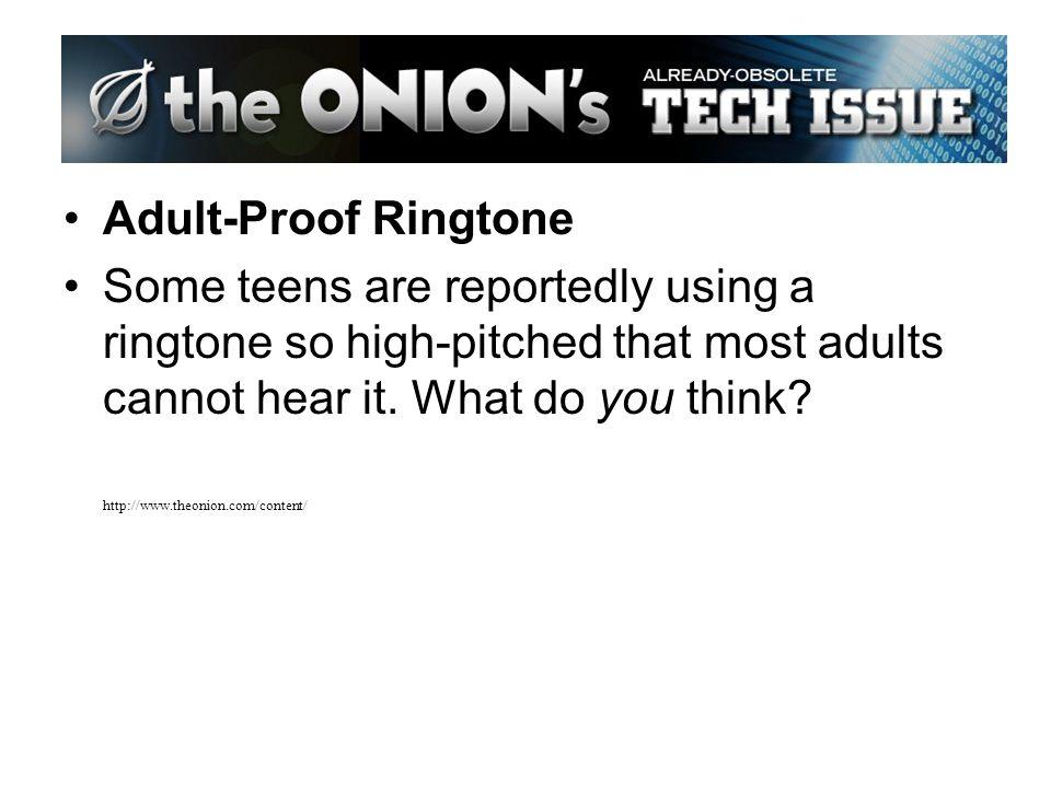 cannot hear ringtone adult