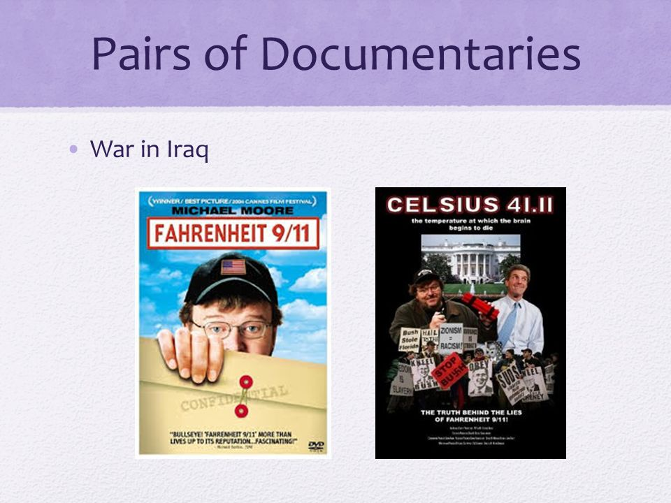 Pairs of Documentaries War in Iraq