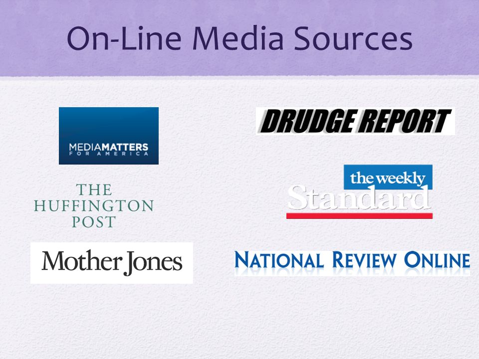 On-Line Media Sources