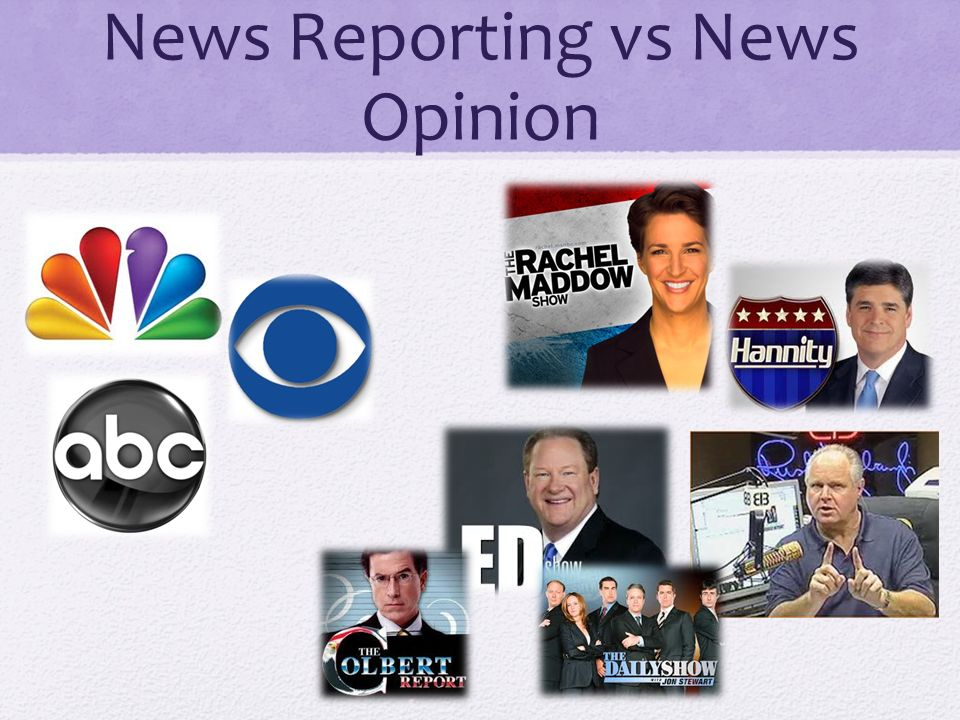 News Reporting vs News Opinion