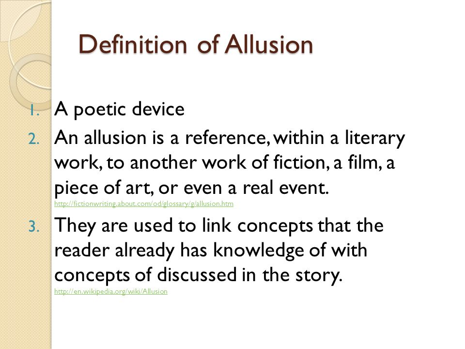 Allusion Definition Examples Image Collections Example Cover