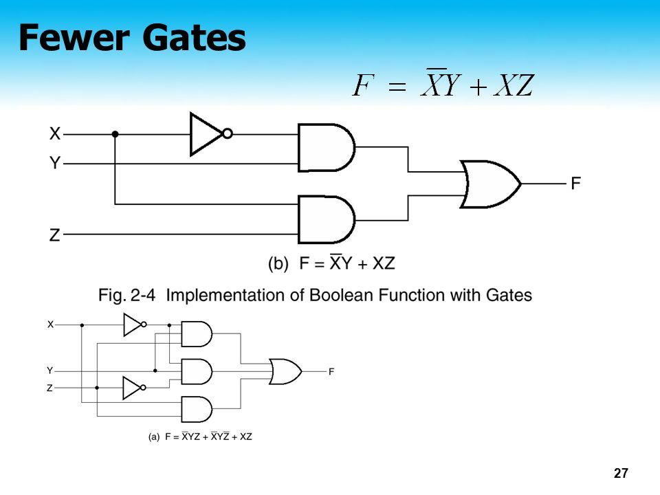 27 Fewer Gates