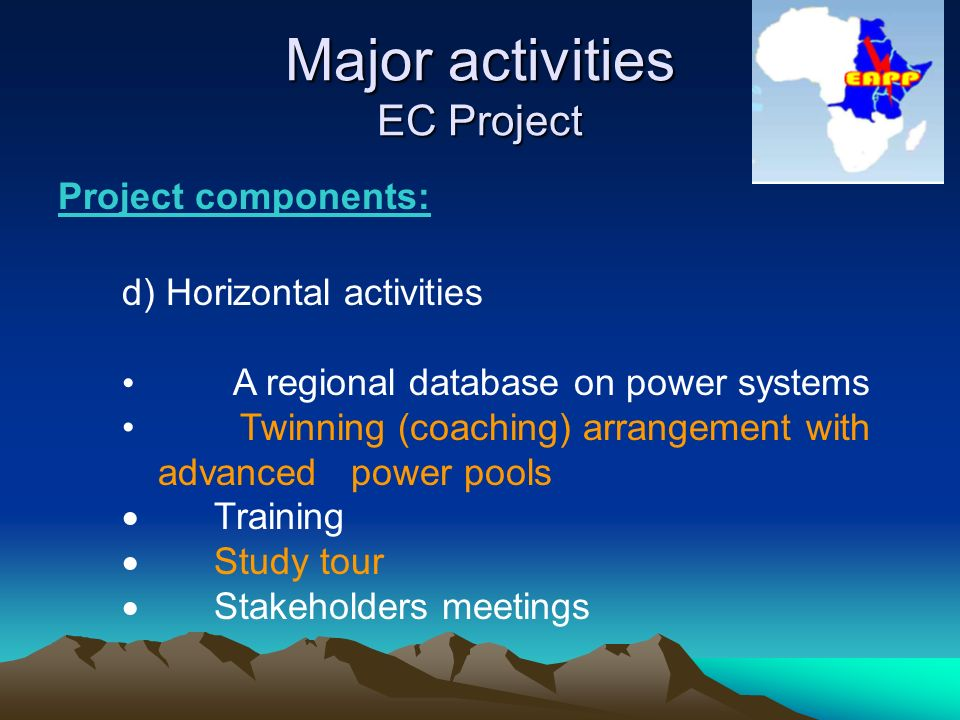 Eastern africa power pool eapp 5 th coordination meeting of a regional database on power systems twinning coaching arrangement with advanced power pools training study tour stakeholders meetings sciox Images