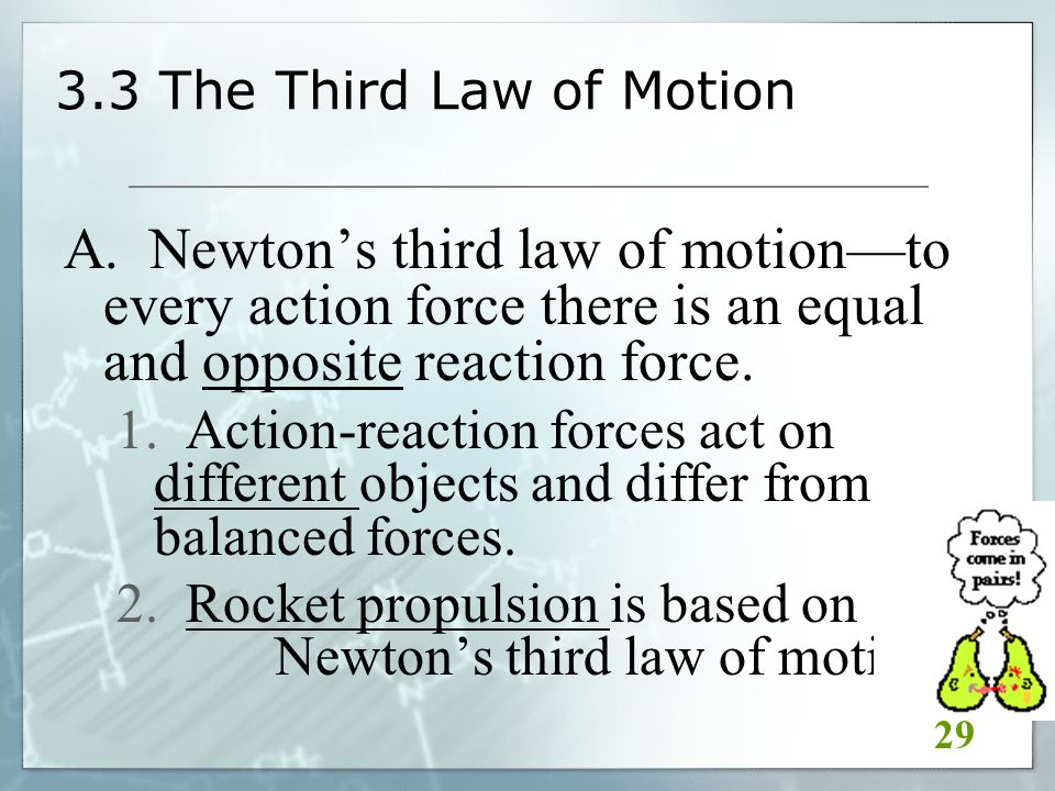 3.3 The Third Law of Motion A.
