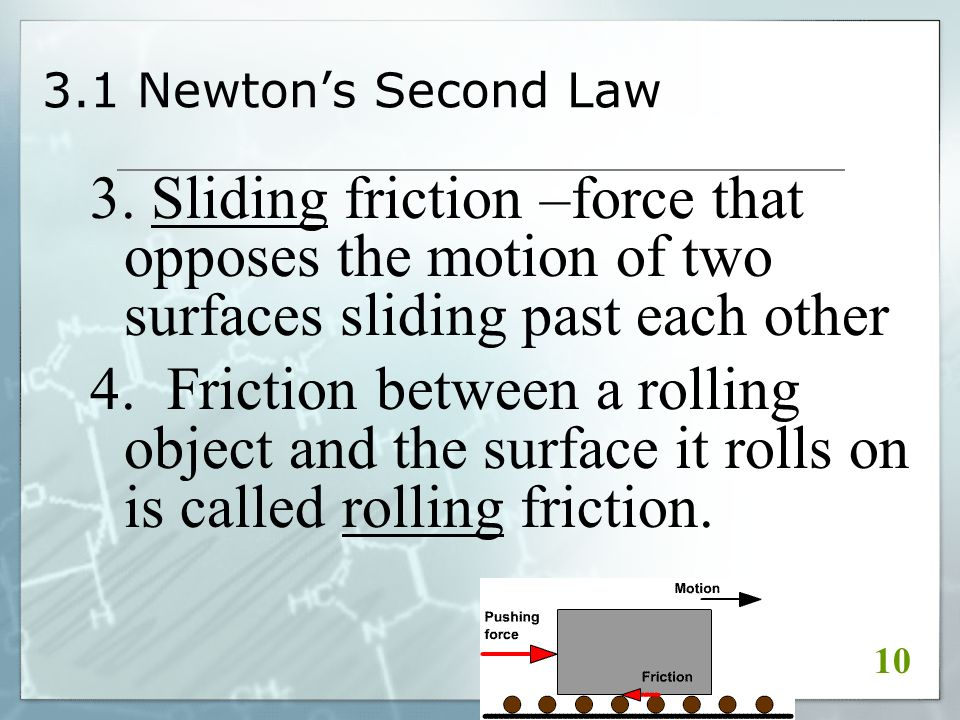 3.1 Newton's Second Law 3.