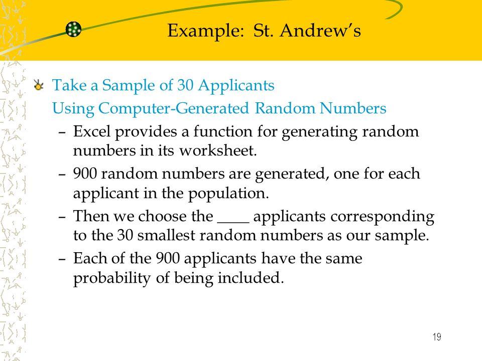 1 Chapter 7 Sampling and Sampling Distributions Simple Random – Random Sampling Worksheet