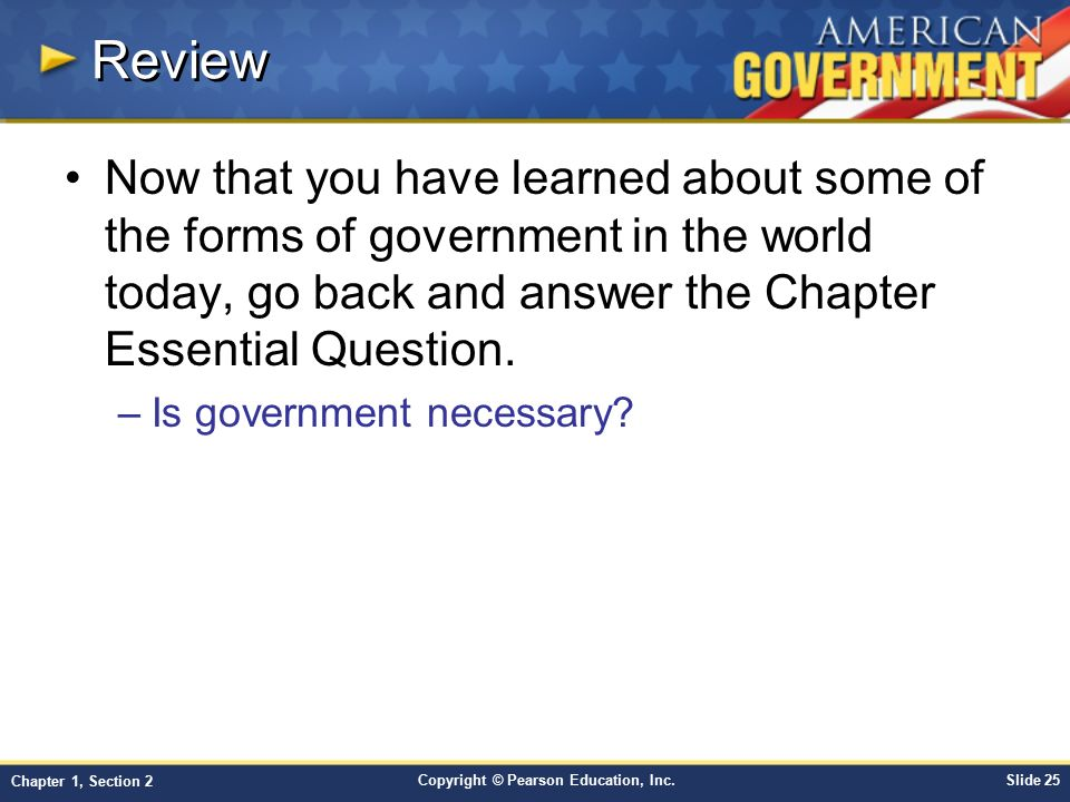Forms of government worksheet answers chapter 1 section 2