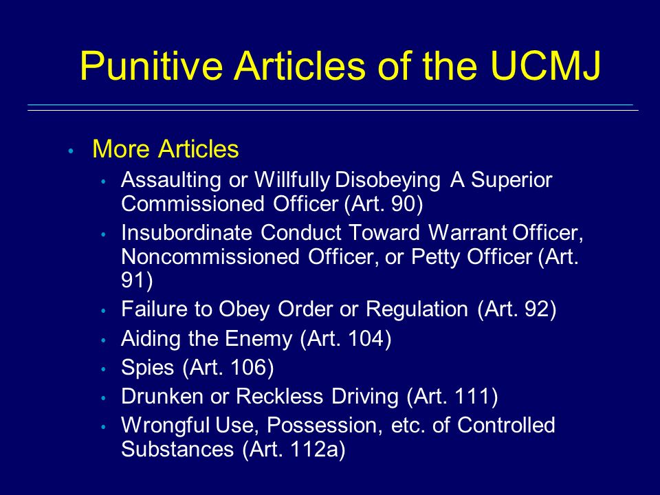 accountability ucmj articles 85 86 Uniform code of military justice congressional code of military criminal law applicable to all military members worldwide in this article.