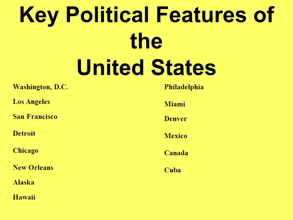 political features