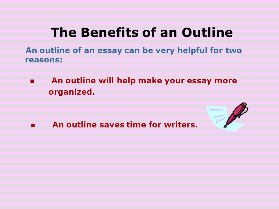making an outline a plan that builds an essay