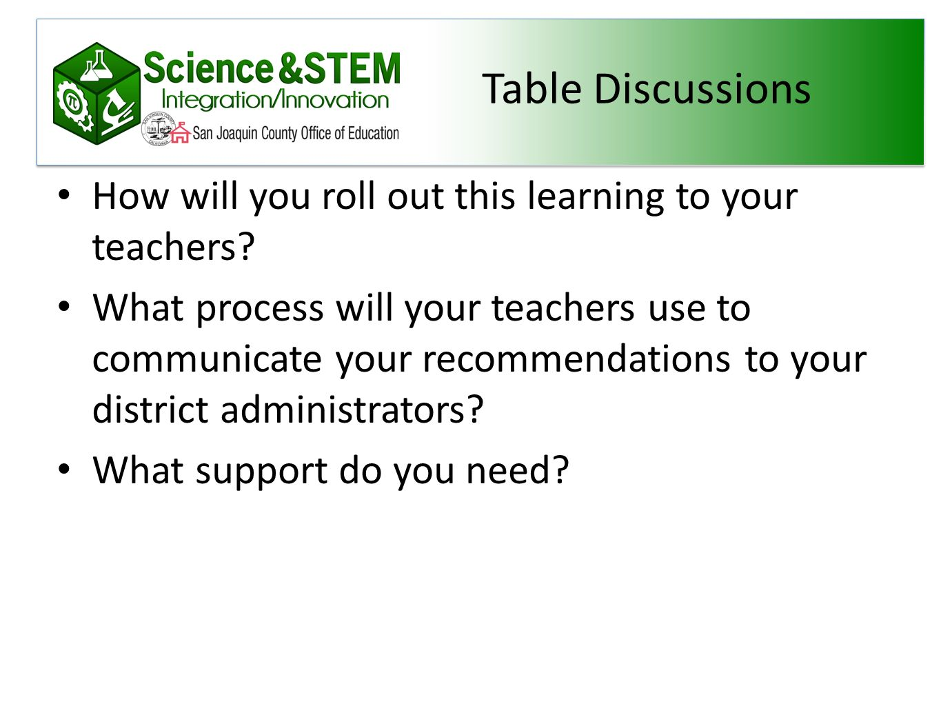 Teachers, what would you reccomend?
