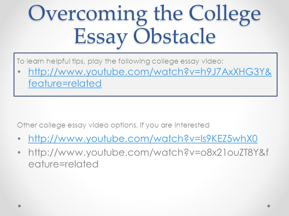 overcoming an obstacle