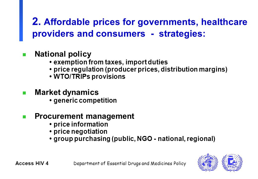 Paula Munderi Department Of Essential Drugs And Medicines Policy