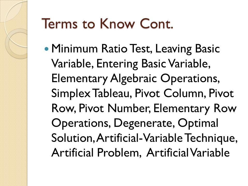 Simplex method of solving linear programming problems