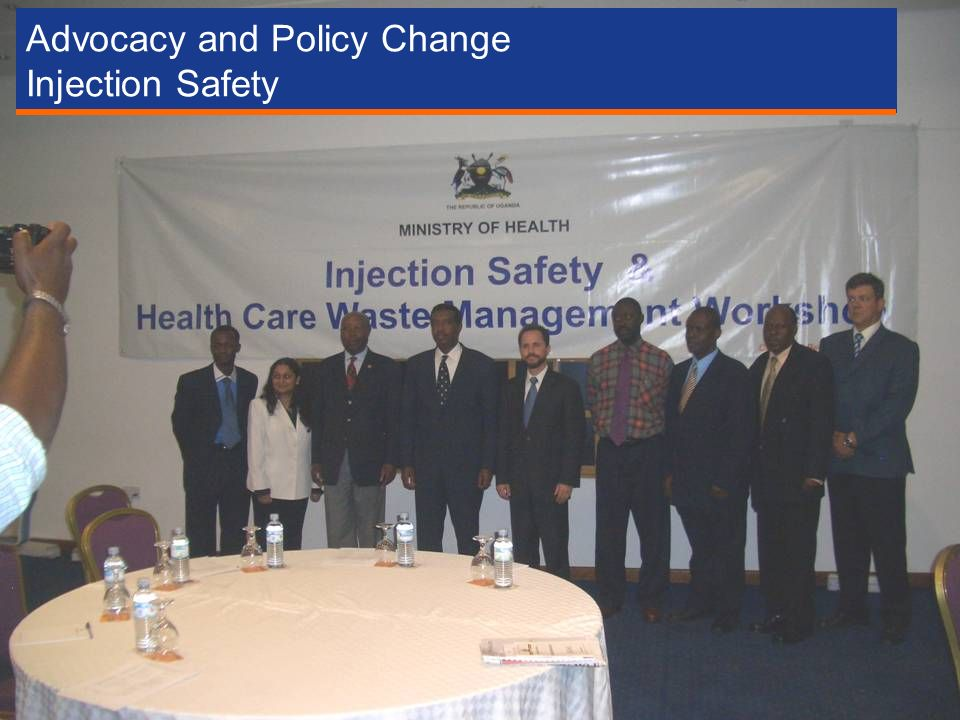 Advocacy and Policy Change Injection Safety