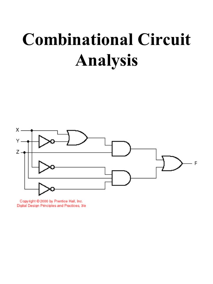 Combinational Circuit Analysis
