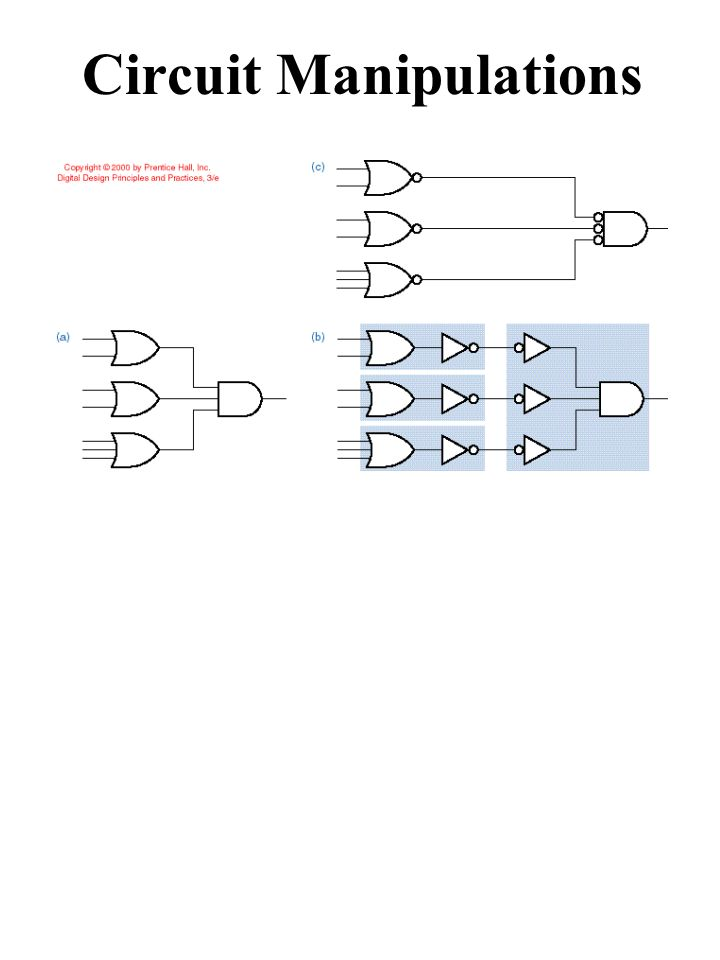 Circuit Manipulations