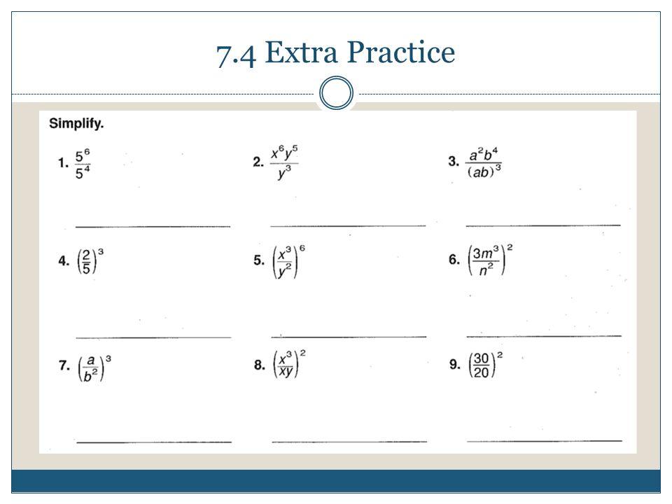 7.4 Extra Practice