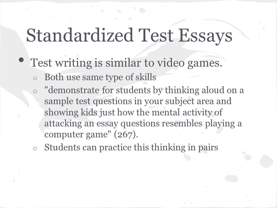 writing essays tests