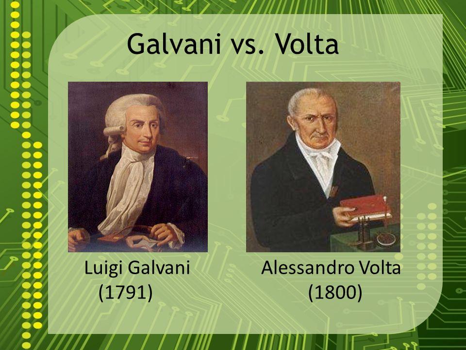 Galvani vs Volta