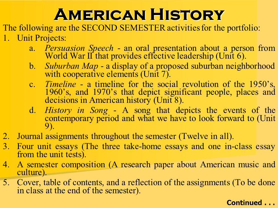 us history portfolio