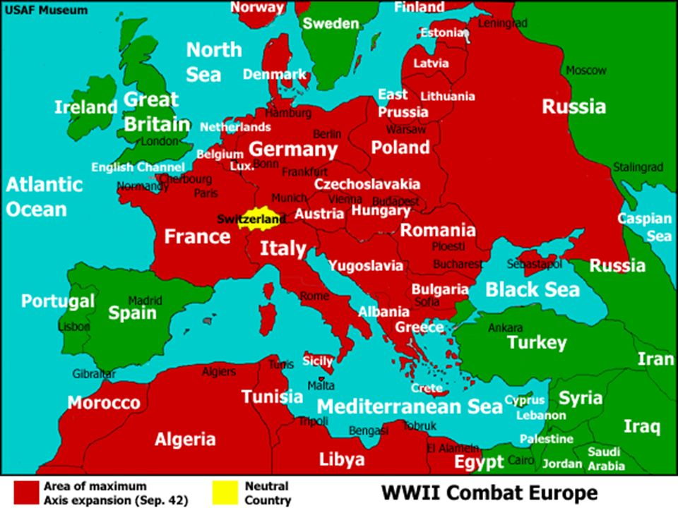 World War II The Ultimate Good Guys Vs Bad Guys Type Of War - Third reich map 1944