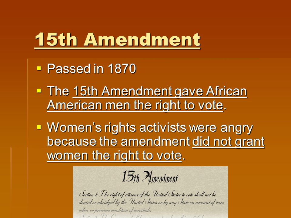 February 3, 1870: The 15th amendment ratified - YouTube