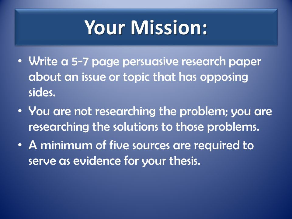 What is a research paper i can write about?