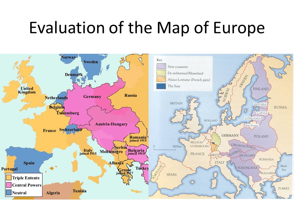 Peace Treaties After World War Central Europe Austria And - Europe map after world war1