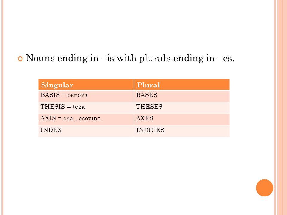 plural noun of thesis