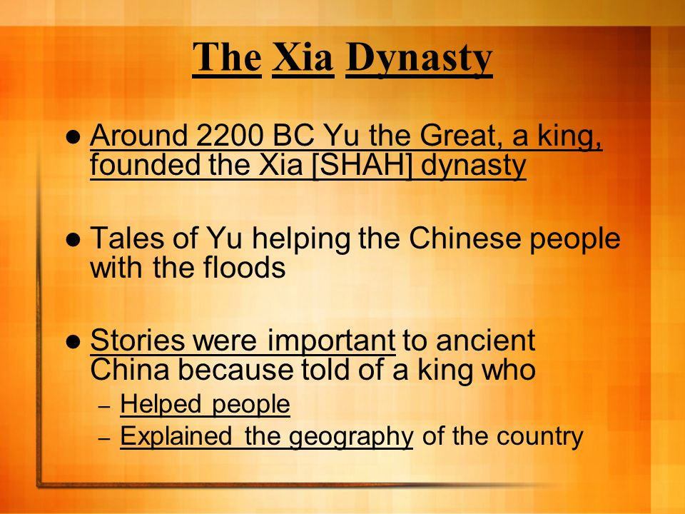 Ancient china chapter 6 physical geography geography played a 19 the xia dynasty sciox Image collections