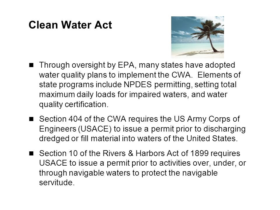 Integrating other laws into blm planning objectives integrate legal clean water act through oversight by epa many states have adopted water quality plans to publicscrutiny Images
