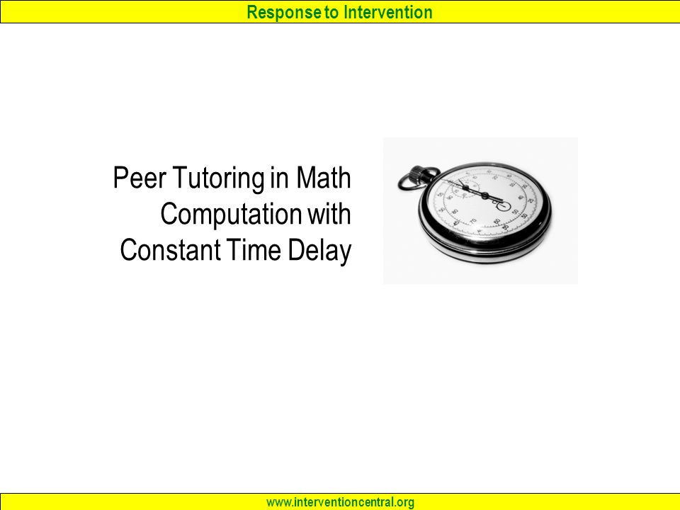 Response to Intervention RTI The Classroom Teacher as – Intervention Central Math Worksheet Generator