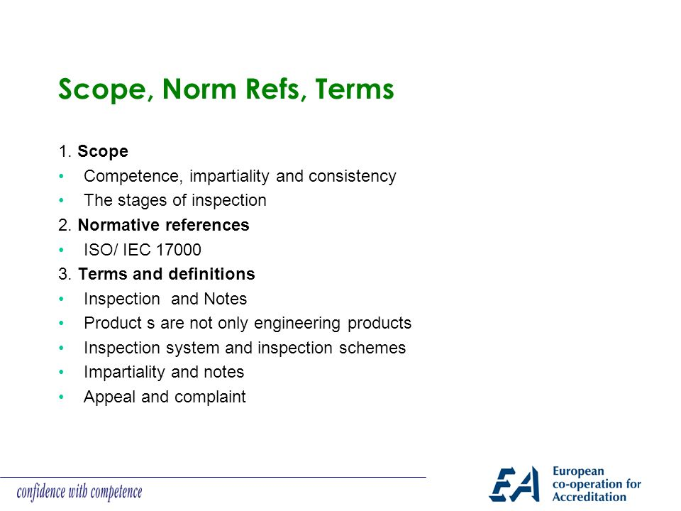 Scope, Norm Refs, Terms 1.