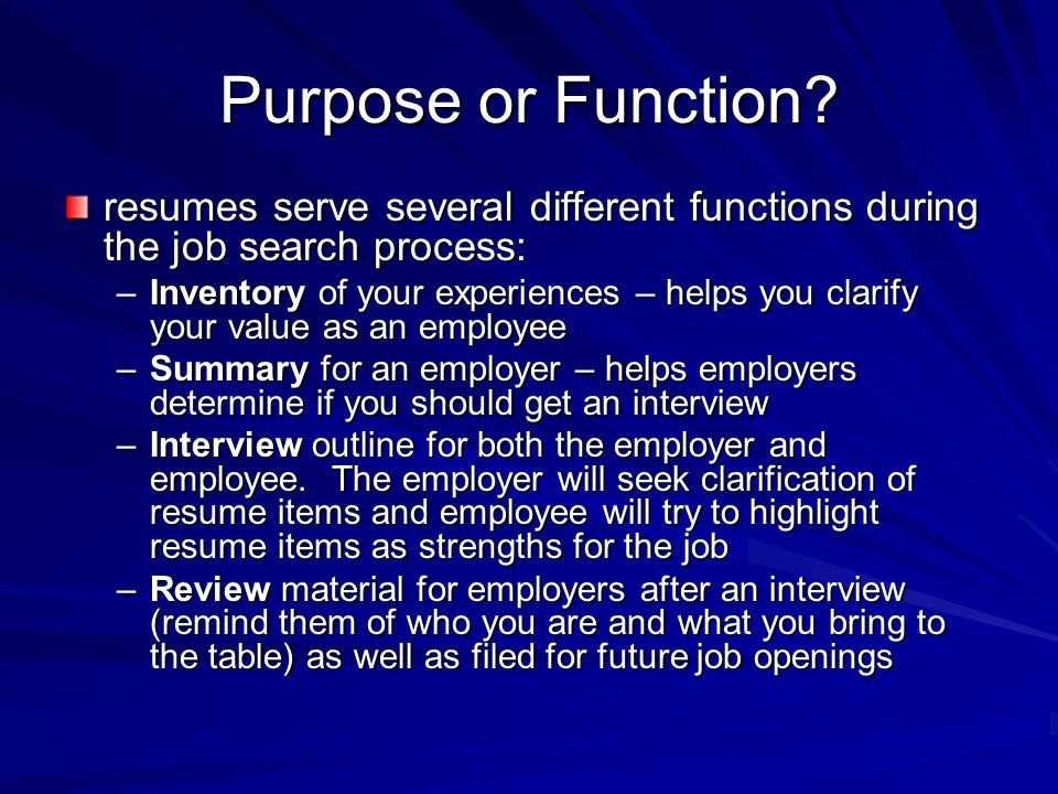 What Are Resumes. 3 Purpose ...  What Are Resumes