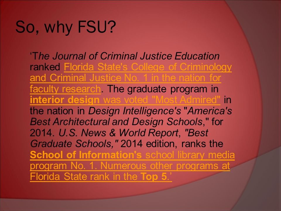 FSU Quick Facts Florida State University Is A Public College