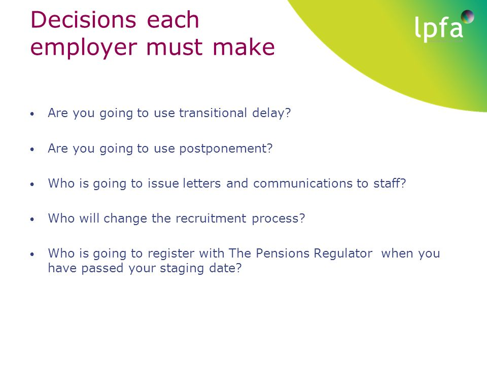 Hertfordshire employers workshop automatic enrolment ppt download 4 decisions spiritdancerdesigns Image collections