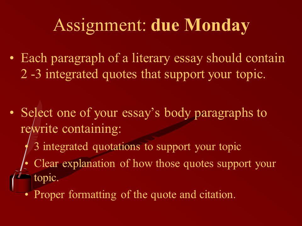 Integrated Quotes Essays Elsewheresupermarket