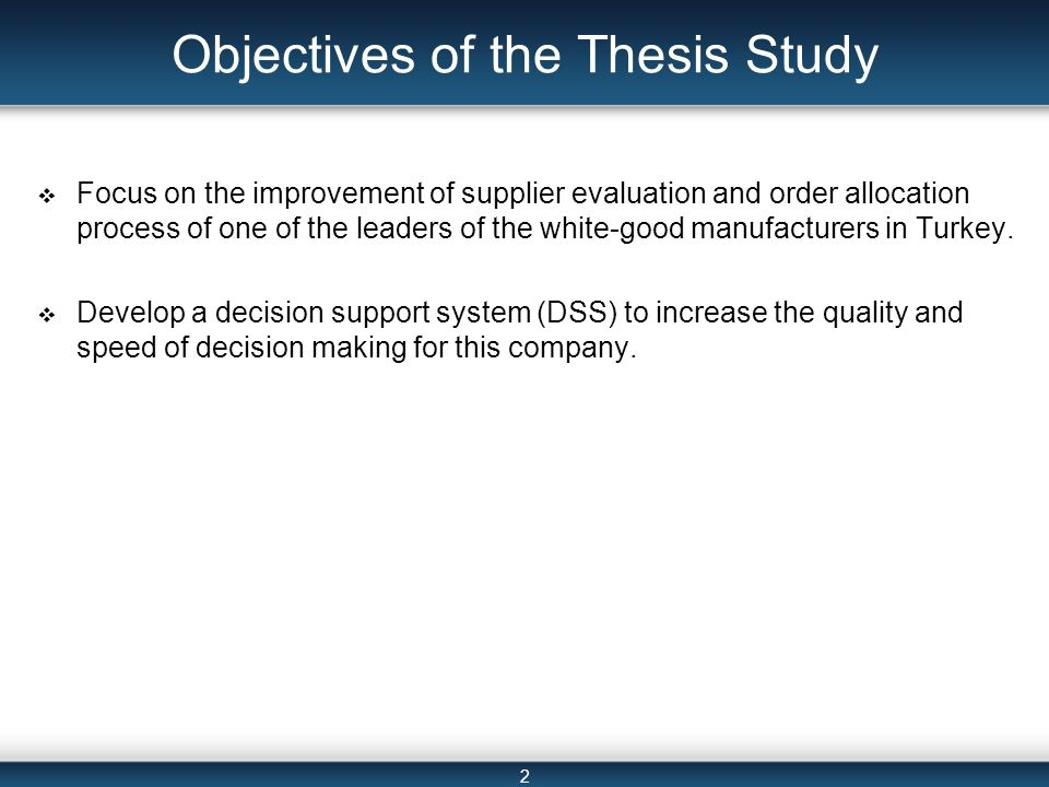 master thesis objectives Master thesis/project report format scope, objectives, and procedures suggested master project/thesis completion timeline.