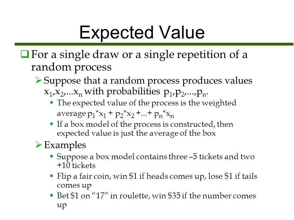 Expected Value And Standard Error For A Sum Of Draws Dr Monticino