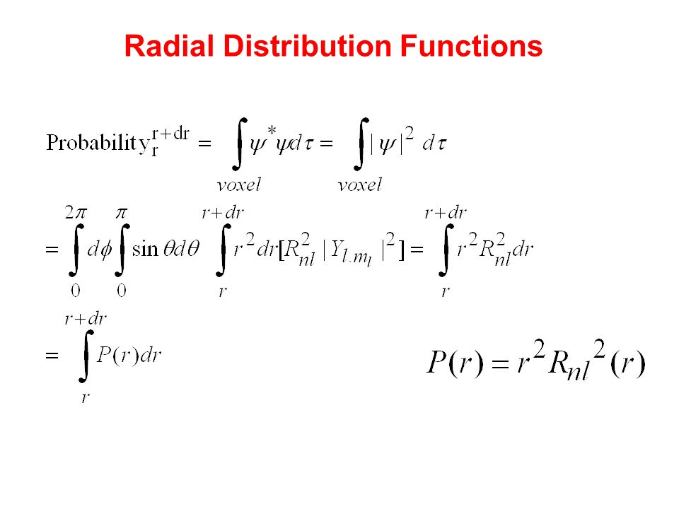 Radial Distribution Functions