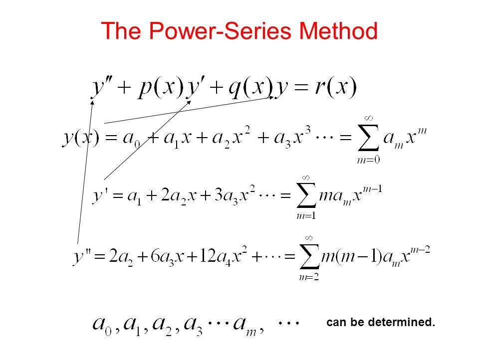 The Power-Series Method can be determined.