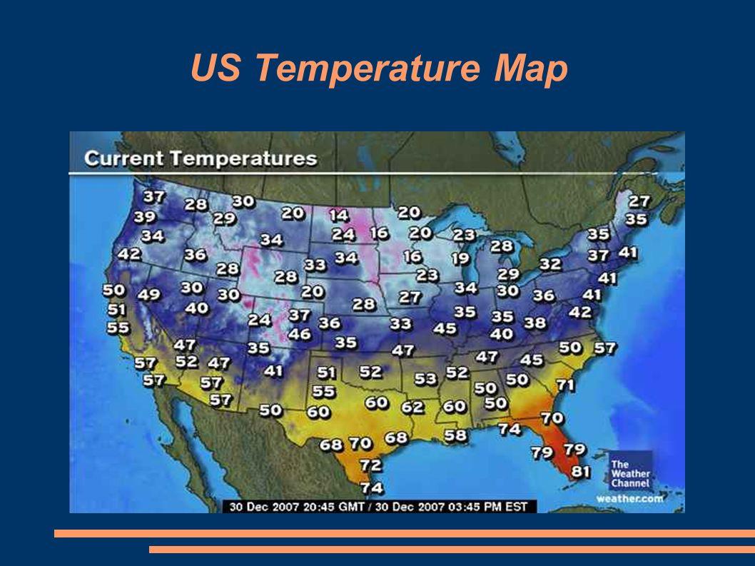 8 Us Temperature Map