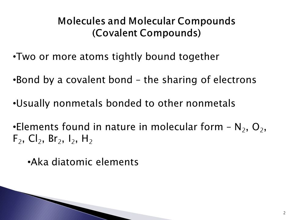 Naming Compounds 1 Molecules And Molecular Compounds Covalent