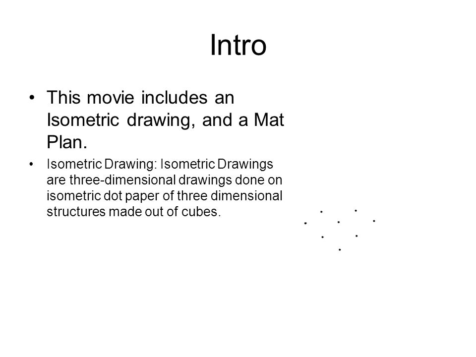 Isometric Drawings By: Curtis Denlinger. Intro This Movie Includes